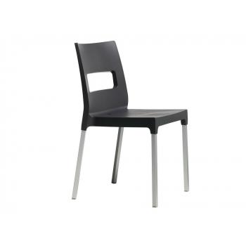 Maxi Diva stackable chair by Scab Design anthracite technopolymer