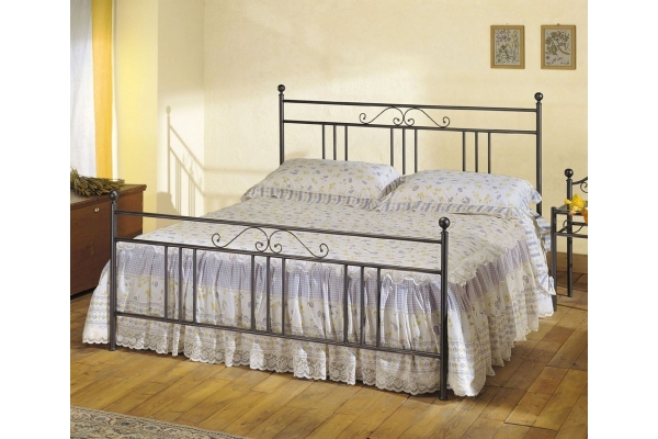 double bed in wrought iron Ines Cosatto