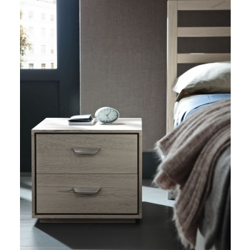 Fly bedside table with two solid wood drawers Altacorte