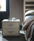 Fly bedside two solid wood drawers Altacorte