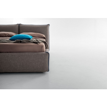 Tonin's Joy double bed Fabric or eco-leather house