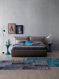Joy double bed by Tonin Casa in fabric or eco-leather