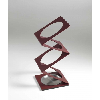 Umbrella stand Pezzani in colored sablé painted steel