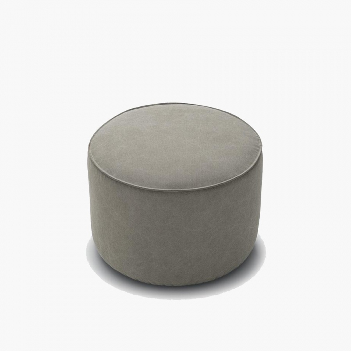 Prime Lenny Round Ottoman In Fabric Or Eco Leather Ibusinesslaw Wood Chair Design Ideas Ibusinesslaworg
