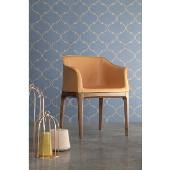 Chair with leather frame covered with leather, leather or leather Mivida Di Tonin Casa