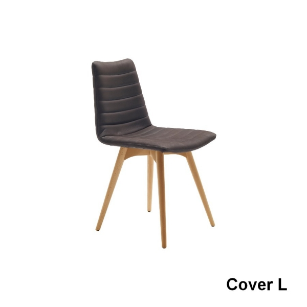 midj cover chair in leather leather or fabric