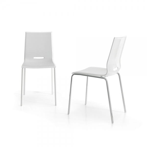 4 Elena chair with metal frame and polypropylene seat