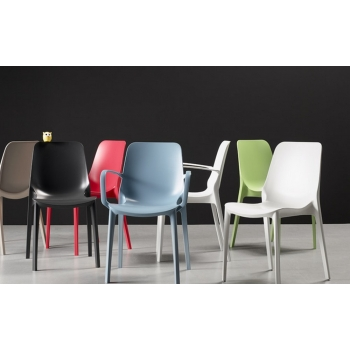 Geneva Scab Design Chair with armrests