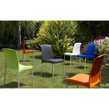 Jenny chair by Scab Design Stackable polypropylene
