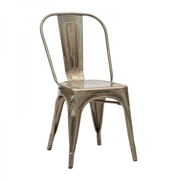 Chair With A Particular Charm In Glossy Painted Metal