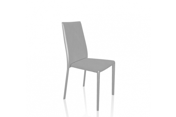 Malik chair by bontempi upholstered in leather