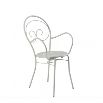 Mimmo stackable iron chair by Vermobil