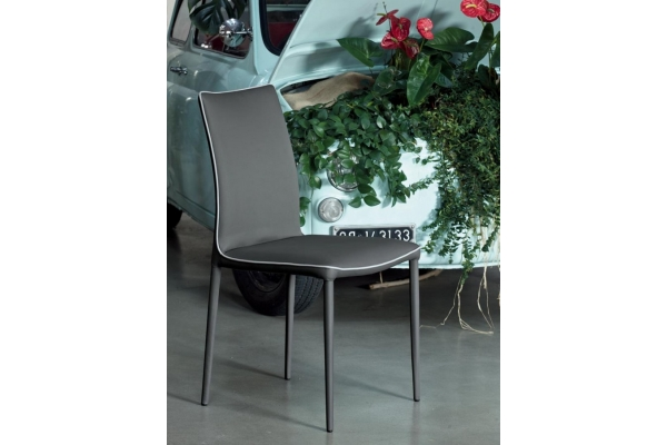 Bonata chair Bontempi low back and covered legs