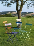 Folding chair of Vermobil Step iron garden