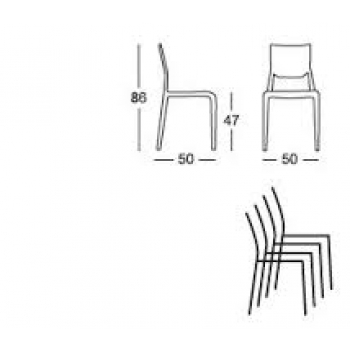 Sirio chair by Scab Design Stackable tecnopolimer