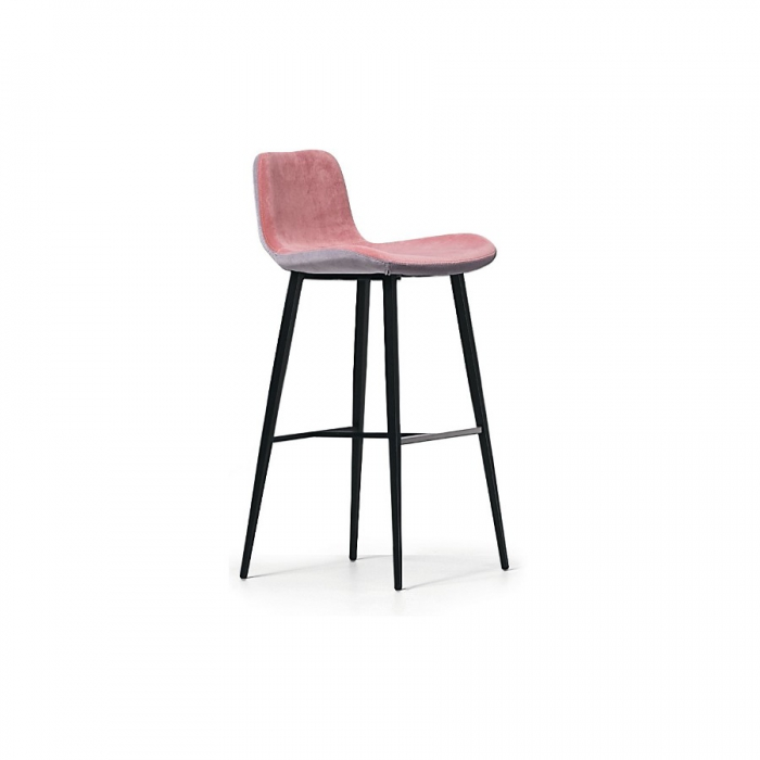 Midia Dalia stool with steel frame and upholstered and upholstered seat