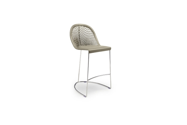 Guapa stool H.65 or H.75 of Midj with sled base and footrest