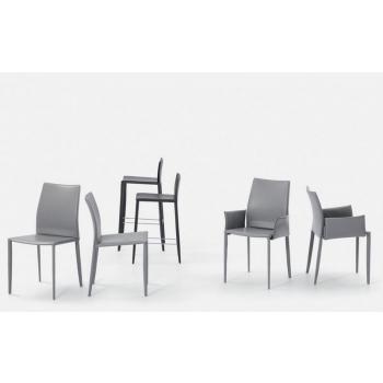 Linda Bontempi chair upholstered in leather