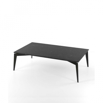 Nordic coffee table by Pezzani Painted steel structure and marble top