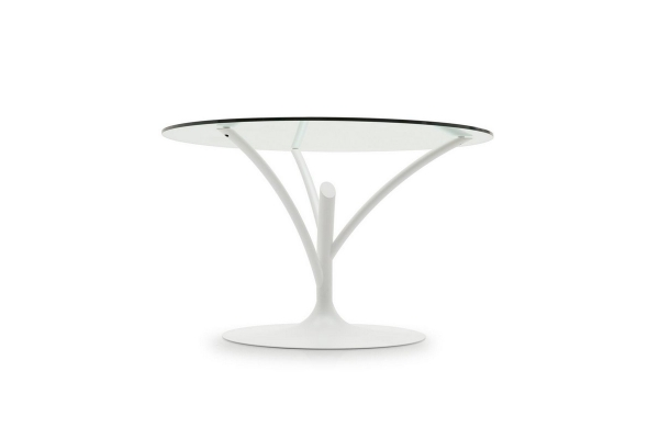 Acacia table with glass top
