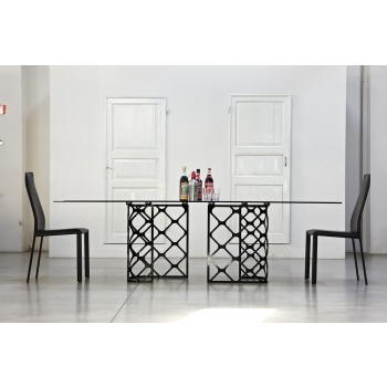Extendable table 190 Majesty rectangular Bontempi plan SuperCeramica