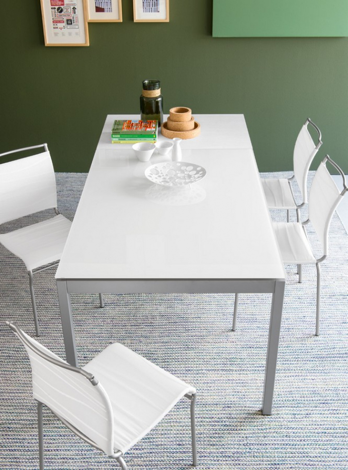 Tavolo Allungabile Vetro Calligaris.Connubia Snap Table By Calligaris With Metal Glass Structure