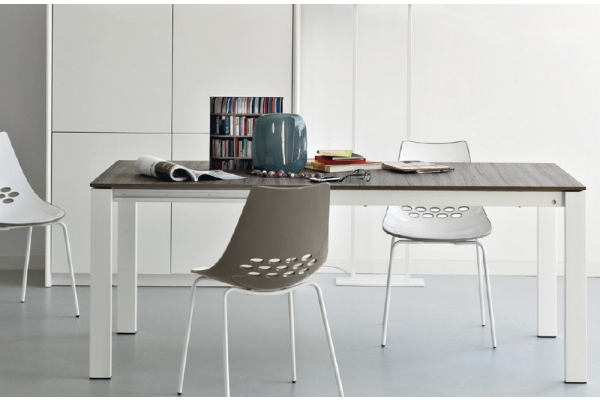 Baron table by Calligaris 130 Connubia with laminate or laminated top