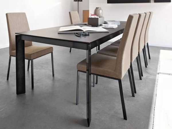Baron extending table 160 with top connubia ceramic or for Tavolo calligaris baron