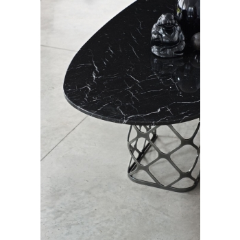 Fixed and extendable Majesty rectangular table by Bontempi