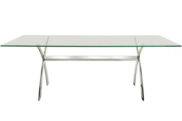 Midj Portofino fixed table with glass top