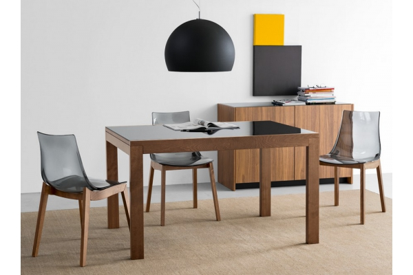 New Smart table by Connubia by Calligaris extendable with wooden frame