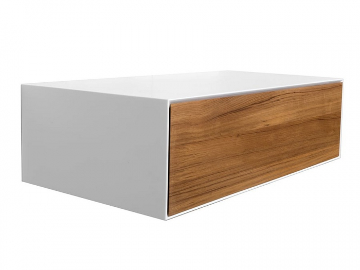 Cipì's Diamond Teak Top in Natural Acrylic Stone and Teak Wood