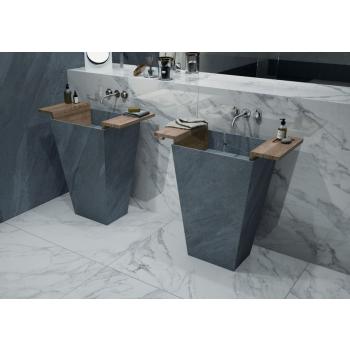 Totem freestanding washbasin in elegant and minimal gress