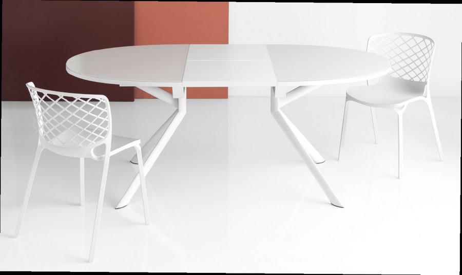 Table Extensible Giove De Connubia By Calligaris Avec Pieds à Section Elliptique