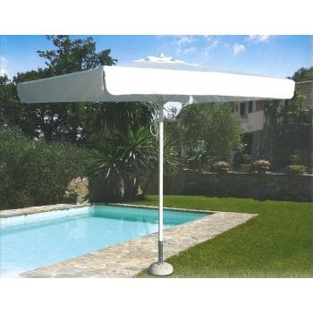 Parasol parapluie par Tegosolis avec poteau en aluminium