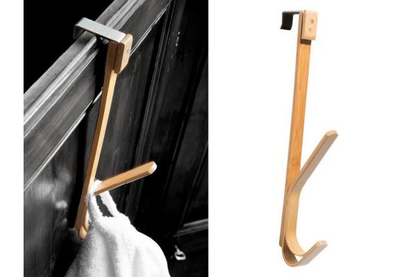 Patère Cipì Spirella en bambou laminé et laminé à chaud