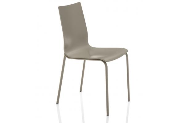 Alfa chaise Bontempi avec coque en bois laqué