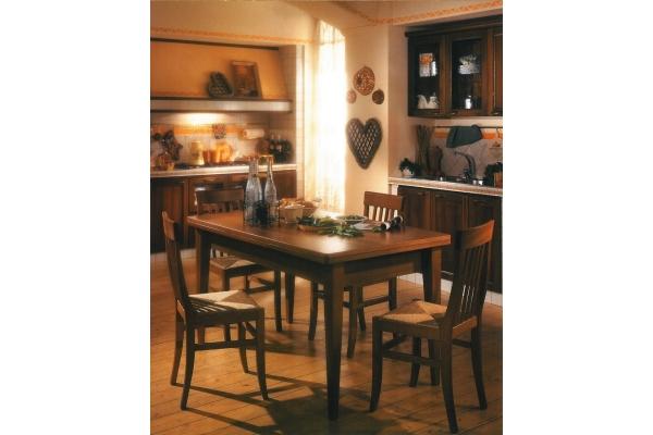 Camilla Furniture chaise égalité avec structure en bois et assise en paille