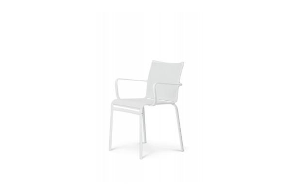 Chaise avec accoudoirs Bontempi Net pour empilage extérieur