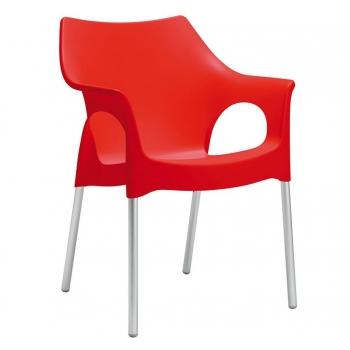 chaise Ola avec accoudoirs en polypropylène résistant au feu de Design Scab