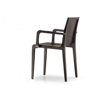 Chaise avec accoudoirs en bois 425 Pedrali Jeune