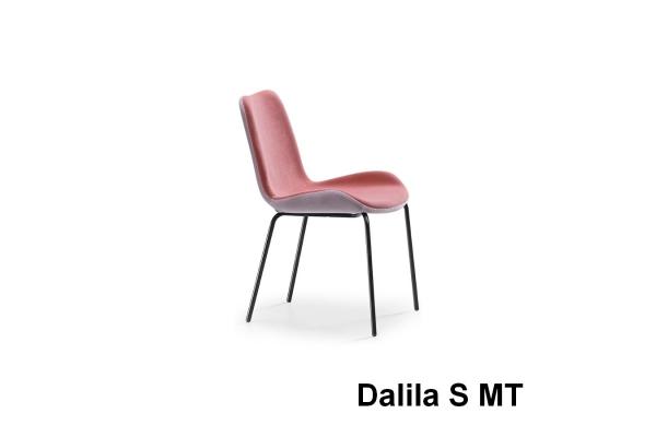 Chaise Midia Dalia sans accoudoirs rembourrés et rembourrés