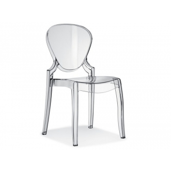 chaise Queen par polycarbonate Pedrali