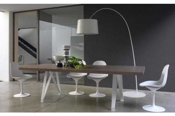 Table fixe 250 cm Logan Bontempi avec plateau en bois